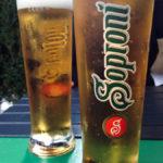 Lokales Bier Soproni