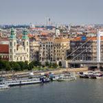 Blick auf die Donau und Elisabethbrücke