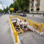 Zugang zu einer U-Bahn-Station auf der historischen Linie M1 in Budapest