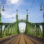 Zentrierte Ansicht der Freiheitsbrücke