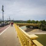 Zugang zur Margareteninsel über die Margaretenbrücke