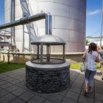 Der artesische Brunnen auf dem Gelände der Brauerei Budweis