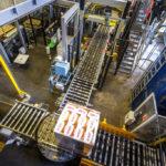 Abfüll- und Verpackungsanlage in der Brauerei Budweis