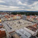 Blick vom Schwarzen Turm auf den Marktplatz von Budweis