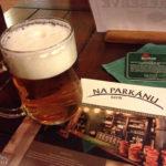 Ein Glas Pilsner Urquell in der Braugaststätte Na Parkánu