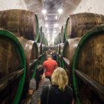 Lager- und Gärkeller in der Brauerei Pilsner Urquell