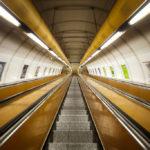 Rolltreppe in der Metro-Station Náměstí Republiky