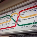 Metro-Plan in einer U-Bahn