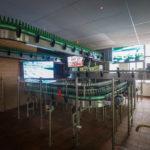 Nachbildung einer Abfüllanlage in der Brauerei Staropramen