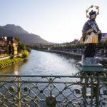 Figurenbildstock des heiligen Johannes Nepomuk auf der Kaiserin-Elisabeth-Brücke