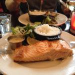 Lachsfilet im Restaurant Le Palatium