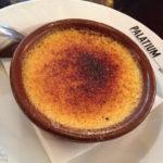 Crème brûlée im Restaurant Le Palatium
