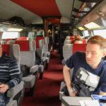 Erste Klasse im Hochgeschwindigkeitszug TGV