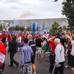 Fans auf dem Weg zum Stadion Matmut-Atlantique