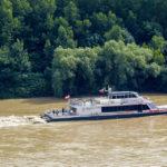 Der Twin City Liner in Fahrt auf der Donau