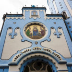 Außenansicht der Blauen Kirche (St.-Elisabeth-Kirche)