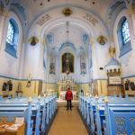 Innenansicht der Blauen Kirche (St.-Elisabeth-Kirche)
