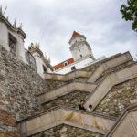 Die spektakuläre Stiege auf die Burg hinauf