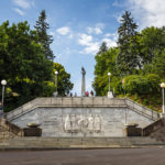 Am Fuße des Kriegerdenkmals Slavín