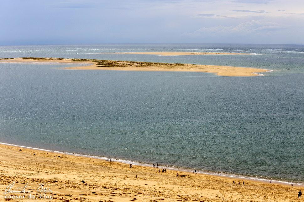 Vorgelagerte Sandbänke im Atlantik