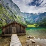 Kleine Bootshütte am Obersee