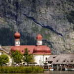 Wallfahrtskapelle St. Bartholomä vom Königssee aus gesehen