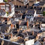 Blick auf Nantes von der Aussichtsplattform des Wolkenkratzers Tour Bretagne