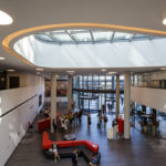 Empfangsbereich in der ÖBB Unternehmenszentrale in Wien