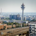 Blick Richtung Arsenal von der Skylobby der ÖBB Unternehmenszentrale in Wien