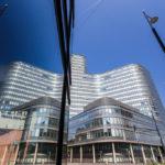 Außenansicht der ÖBB Unternehmenszentrale in Wien
