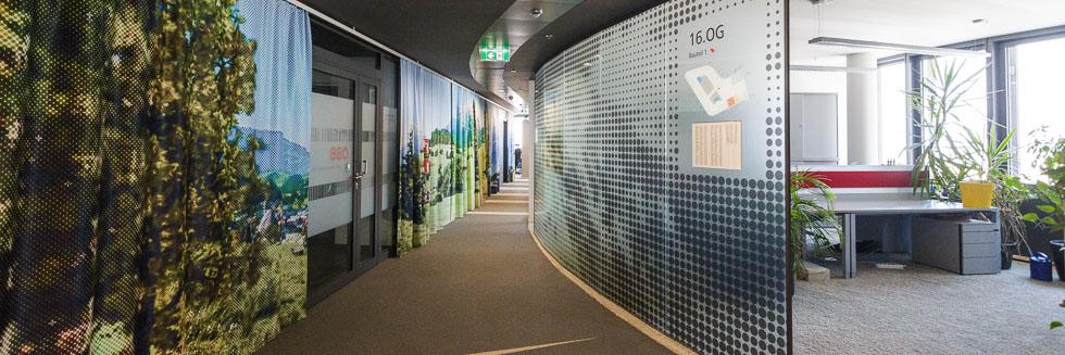 Büroräume in der ÖBB Unternehmenszentrale