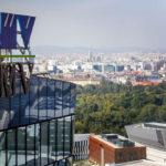 Blick von der Skylounge des OMV Headoffice in Wien