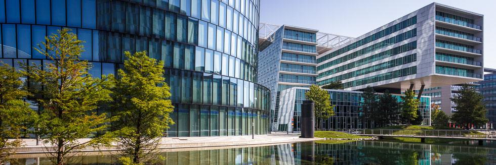 Außenansicht des OMV Headoffice in Wien