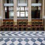Details in der Kassenhalle in der ehemaligen k. k. priv. Länderbank in Wien