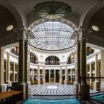 Kassenhalle in der ehemaligen k. k. priv. Länderbank in Wien