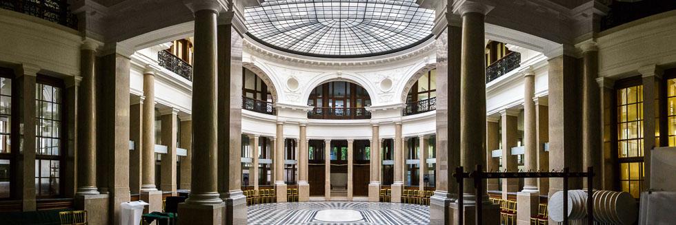 Innenansicht der ehemaligen k. k. priv. Länderbank in Wien