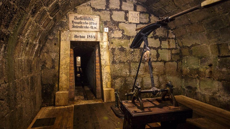 Die Karl-Theodor-Pumpe in der Alten Saline Bad Reichenhall