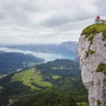 Blick von der Schutzhütte Himmelspforte auf den Attersee