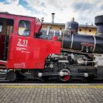 Eine Dampflokomotive Z11 der Schafbergbahn