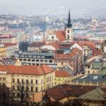 Panoramaansicht der Brünner Innenstadt