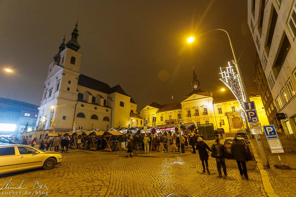 Weihnachtsmarkt auf dem Kapuzinerplatz (Kapucínské náměstí)