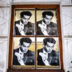 Poster mit dem Porträt des österreichischen Malers Egon Schiele