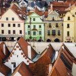 Blick auf den Marktplatz vom Schlossturm aus gesehen