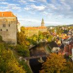 Blick auf das Schloss und die Altstadt von der Aussichtsplattform des Schlossgeländes aus