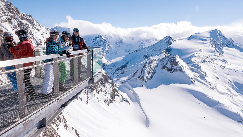 Besucher auf dem Kitzsteinhorn