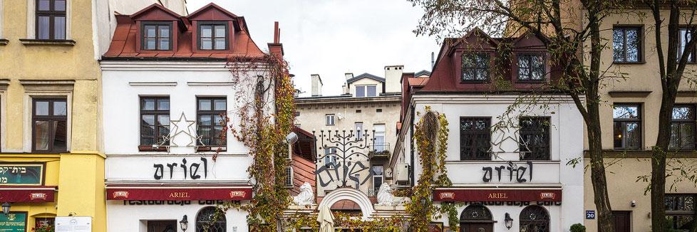 Das Restaurant Ariel im jüdischen Viertel Kazimierz in Krakau