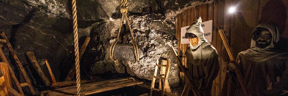 Innenansicht des Salzbergwerks Wieliczka in Krakau