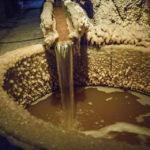 Solehältiges Wasser in der Salzmine Kopalnia Soli Wieliczka