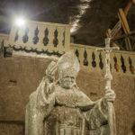 Salzstatue von Papst Johannes Paul II. in der Salzmine Kopalnia Soli Wieliczka