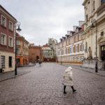 Blick auf die Barbakane in der Altstadt von Warschau